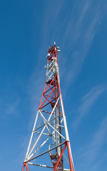 Башня с атеннами сотовой связи.