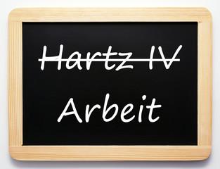 Hartz IV / Arbeit - Konzept Tafel Aufschwung
