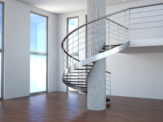 Raum mit Treppe 2