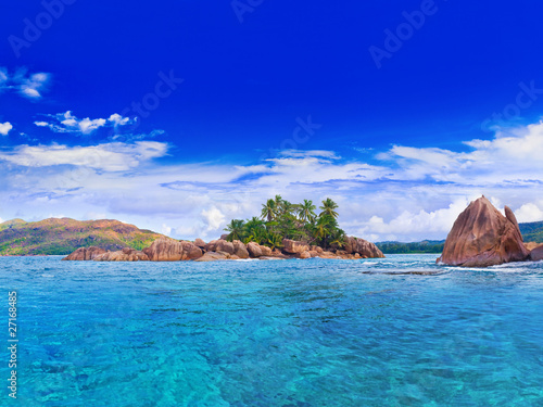 Tropical island at Seychelles