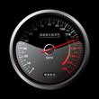 black speedometer - 27169479