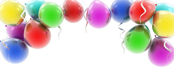 colorful balloons as a background