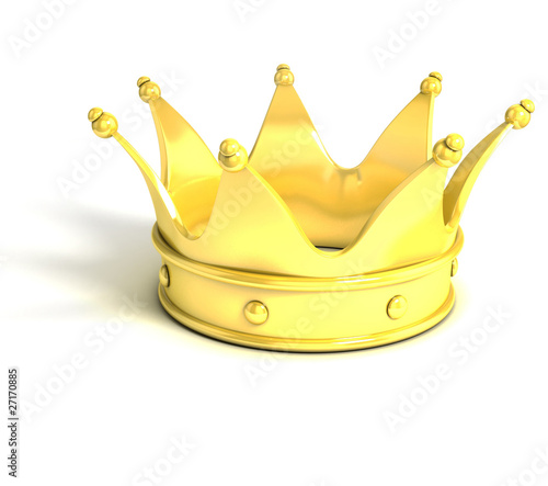 golden crown over white background
