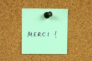 French language - merci means thank you