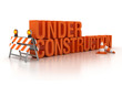 under construction sign 3d illustration