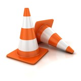 Fototapety traffic cones 3d illustration