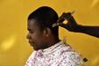 Beim Friseur in Afrika