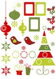 Fototapety Christmas Design Elements  illustration
