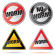icone, picto, bouton : no worm