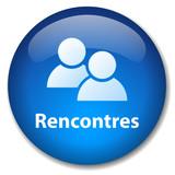 Bouton Web RENCONTRES (amour agence matrimoniale célibataires) poster