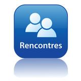 Bouton Web RENCONTRES (célibataires amour agence matrimoniale) poster