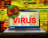 Computer Internet Virus Infection poster