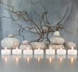 Zweige, Steine, Kerzen