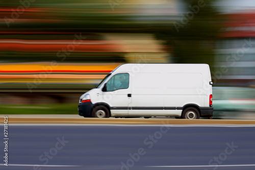 Speedy white van