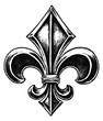 Gothic Fleur de lis - 27187028