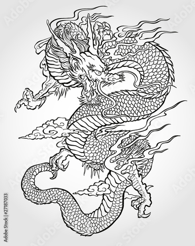 Asian Dragon Tattoo