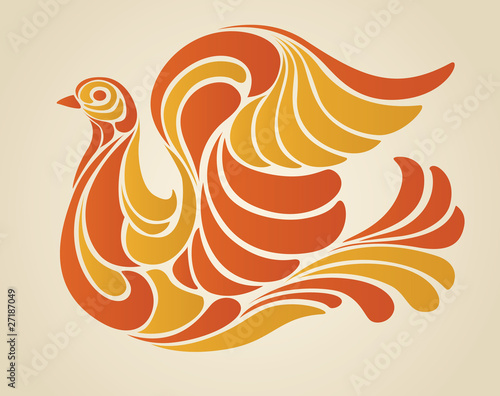 Hippy Dove Vector Illustration