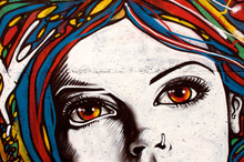 "Постер, картина, фотообои ""Modern style graffiti on brick wall."""