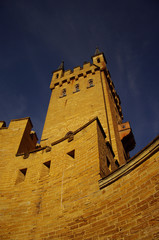Hohenzollern castle in Swabian during autumn, Germany