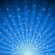 Abstract blue star burst vector background.