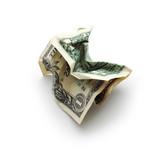 crinkled dollar bill poster