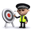 3d Police officer hits the target