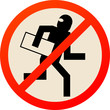 No thief sign, vector illustration