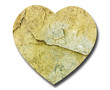 Heart shape natural stone - symbolic