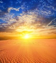 majestic sunset in a desert