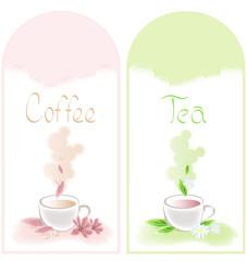 tea and coffee banners