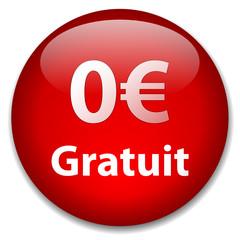 Bouton Web 0€ - GRATUIT (offre spéciale essai soldes zéro euros)