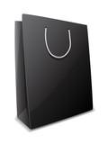 Vector illustration of black paper bag