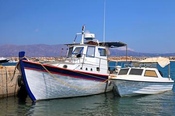 Fishing boats in the harbor (Crete, Greece)