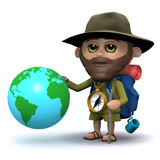 3d Explorer goes round the world