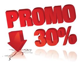 affiche promo 30%