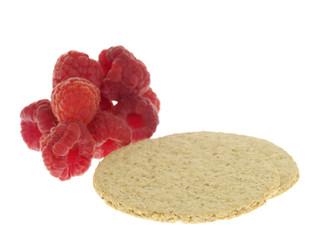 Oat Cake with Raspberries