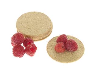 Oat Cakes with Raspberries