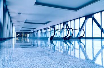 Escalators in modern business center