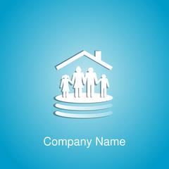 logo protection de la famille
