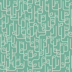 seamless pattern with leaves ornament