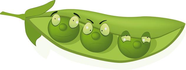 Green peas, and cheerful peas