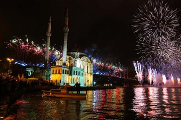 fire works in istanbul-turkey celebration
