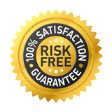 Risk-free guarantee label poster