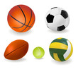 Set of sport balls. Vector.
