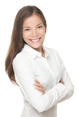 Young smiling businesswoman portrait