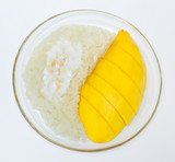 Mango with sticky rice, Thai style dessert
