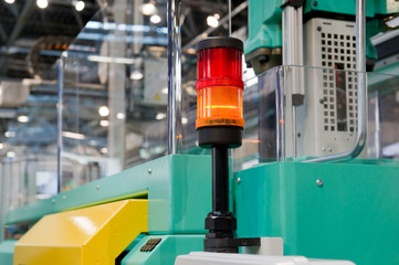 Warnleuchte auf einer Verarbeitungsmaschine