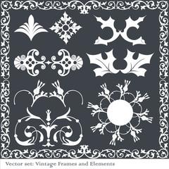 Vintage design vector elements