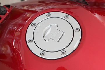 Cap of fuel tank in close up