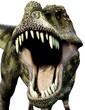 tyrannosaurus green defend close up